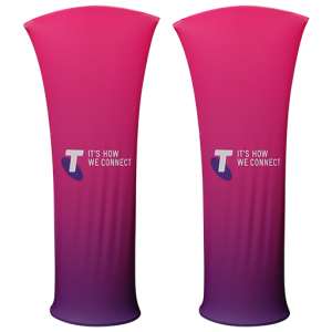 Custom branded Arc Stretch Fabric Tower made to order