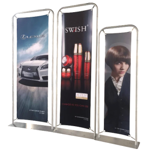 Custom branded Classic Straight Framed Banner