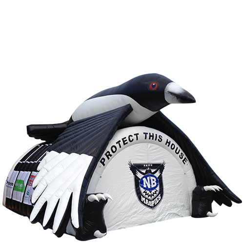 Custom branded magpies Inflatable tent