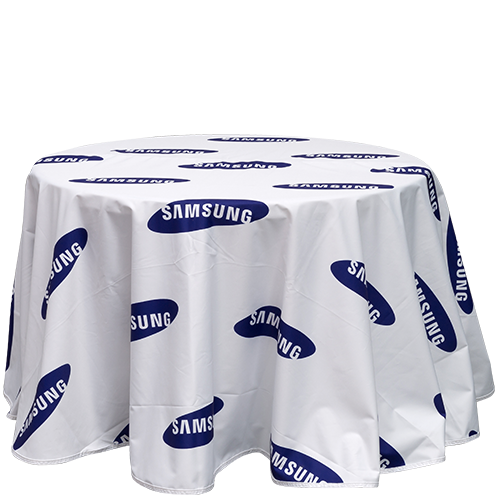 Custom branded Table Cover circular loose